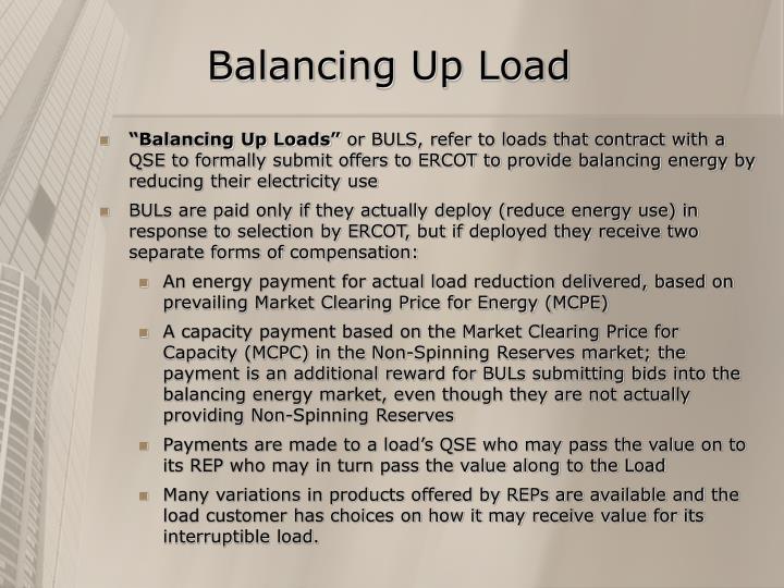 Balancing Up Load