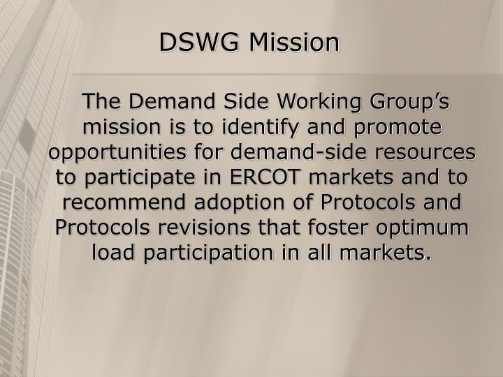 DSWG Mission