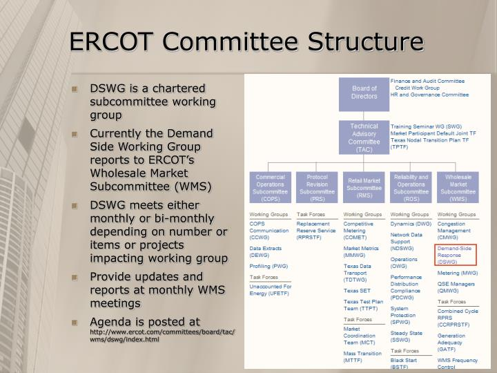 ERCOT Committee Structure