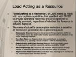 load acting as a resource