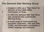 the demand side working group