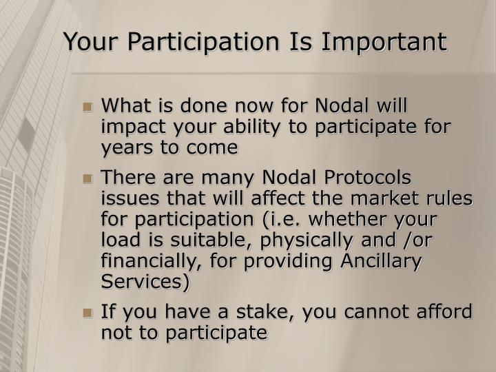Your Participation Is Important