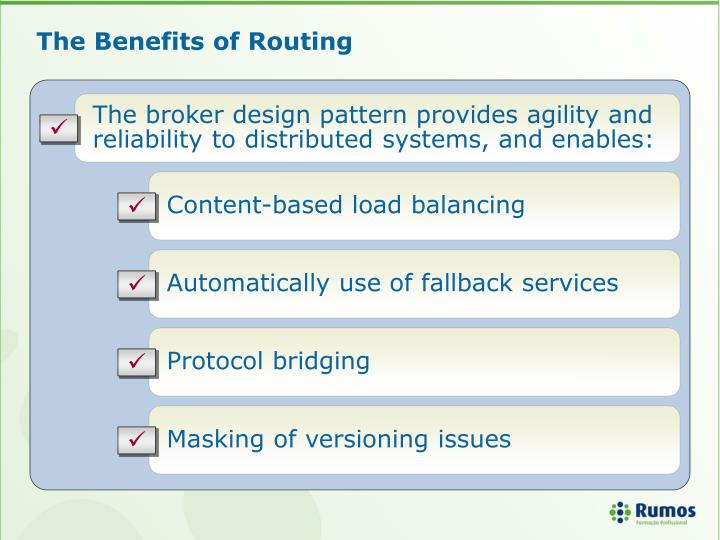 The Benefits of Routing