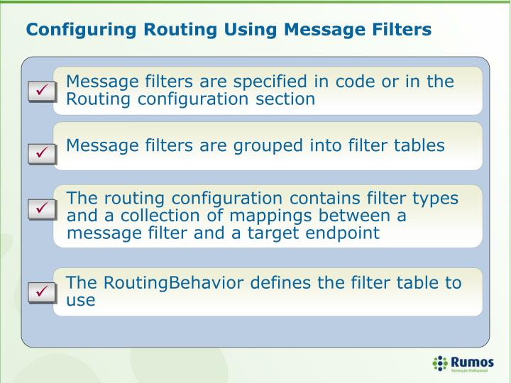 Configuring Routing Using Message Filters