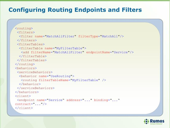 Configuring Routing Endpoints and Filters