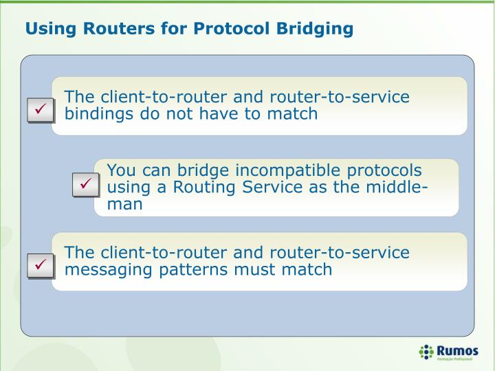 Using Routers for Protocol Bridging