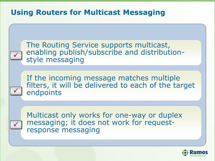 Using Routers for Multicast Messaging