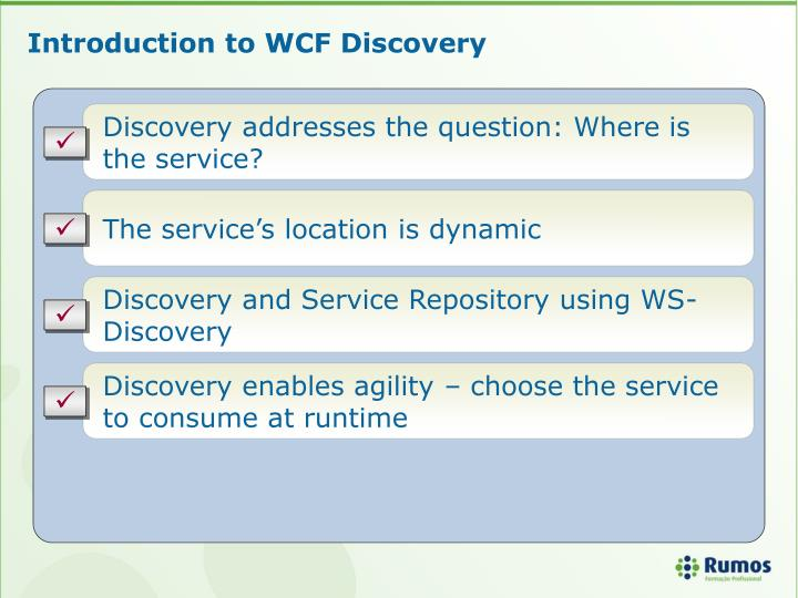 Introduction to WCF Discovery
