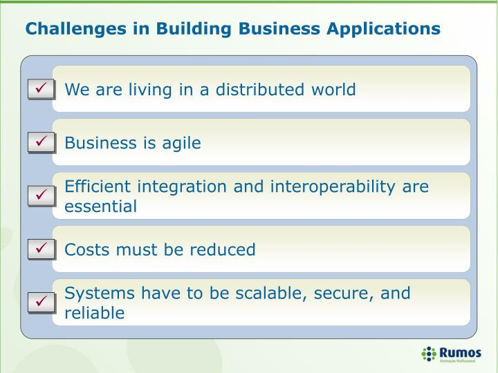 Challenges in Building Business Applications