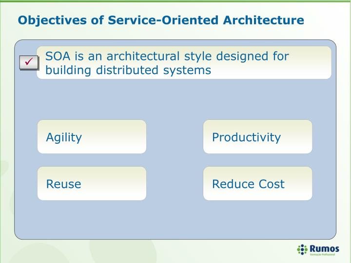 Objectives of Service-Oriented Architecture