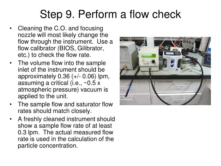 Step 9. Perform a flow check