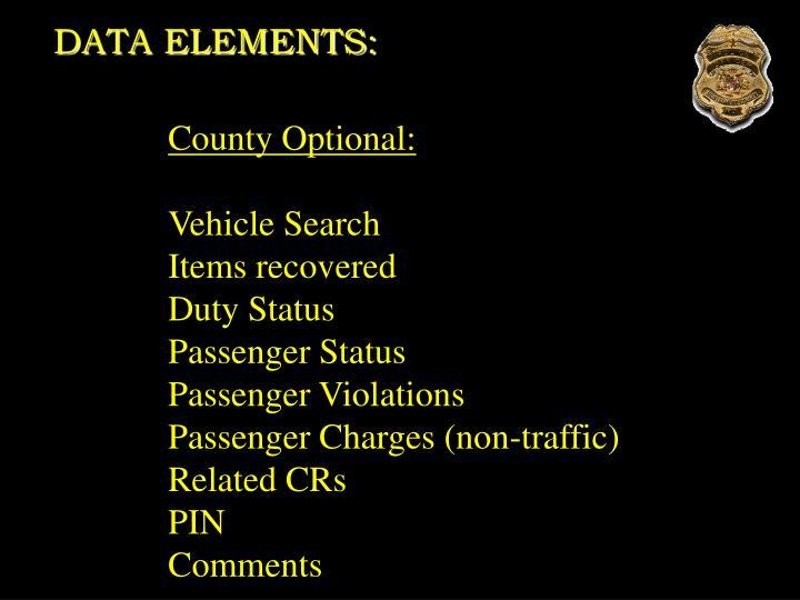 DATA ELEMENTS: