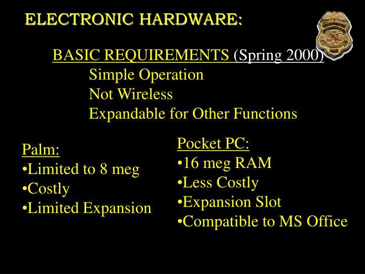 ELECTRONIC HARDWARE: