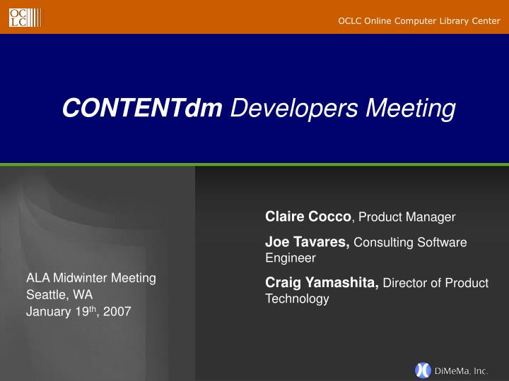 Contentdm developers meeting