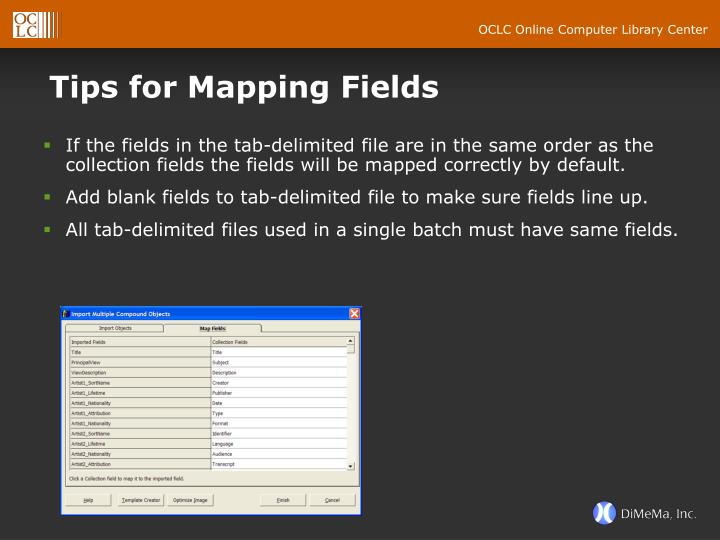Tips for Mapping Fields