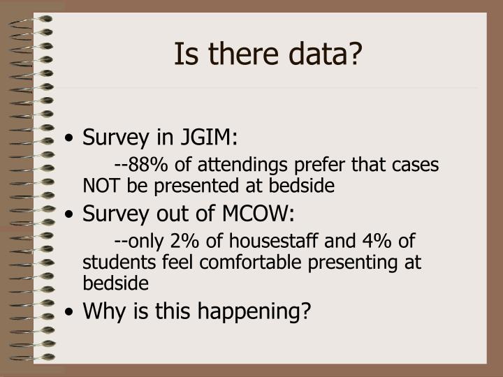 Is there data?