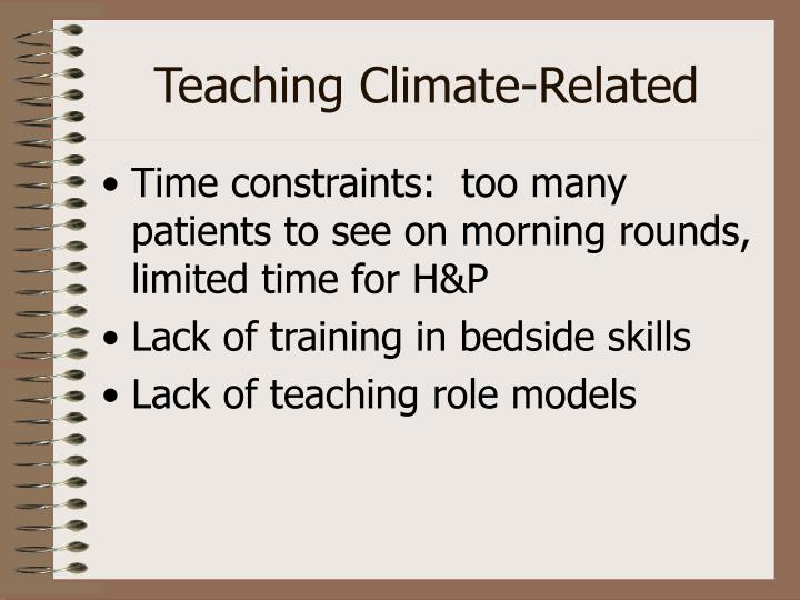 Teaching Climate-Related