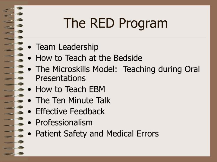 The RED Program