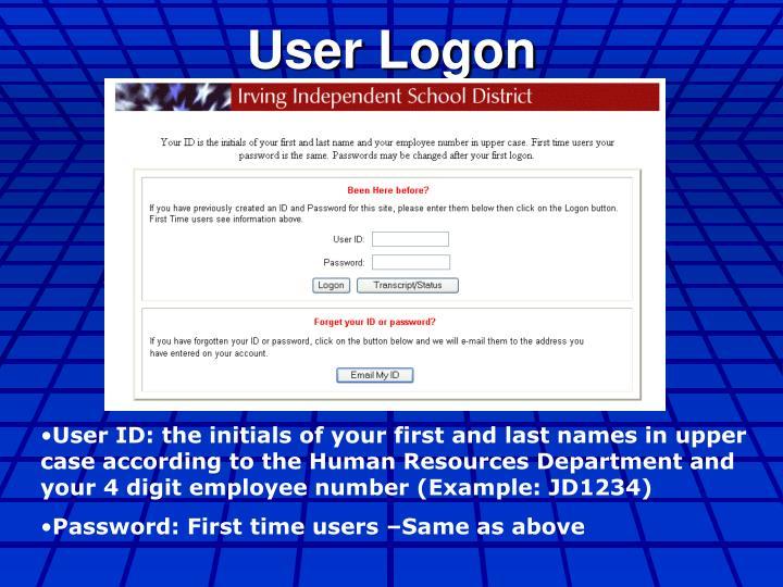 User Logon
