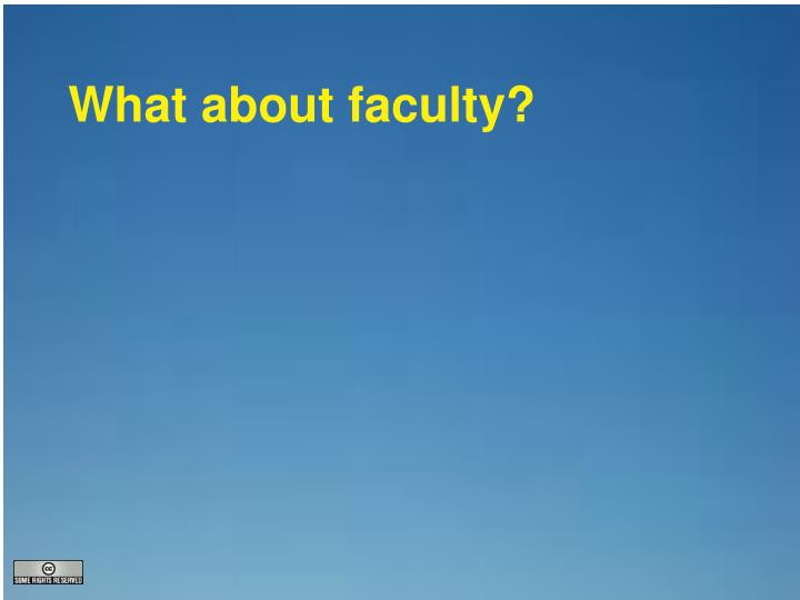 What about faculty?