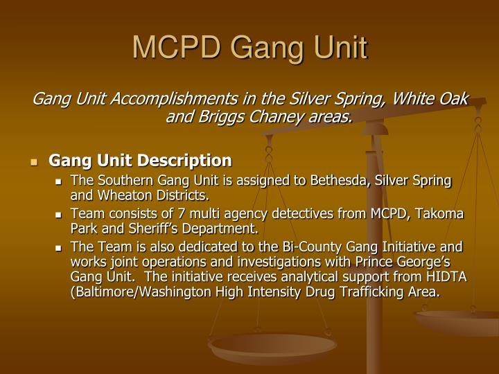 MCPD Gang Unit
