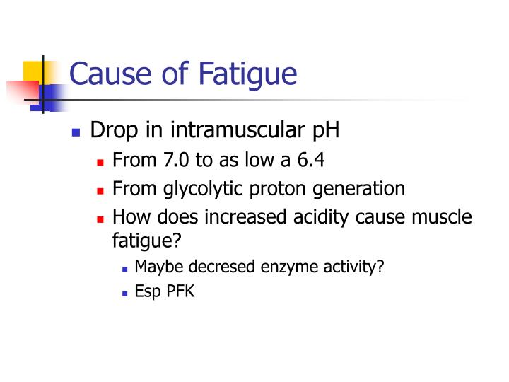 Cause of Fatigue