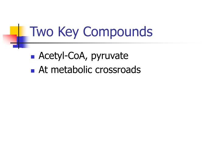 Two Key Compounds