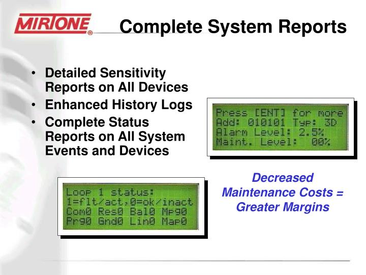Complete System Reports