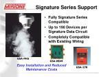 signature series support