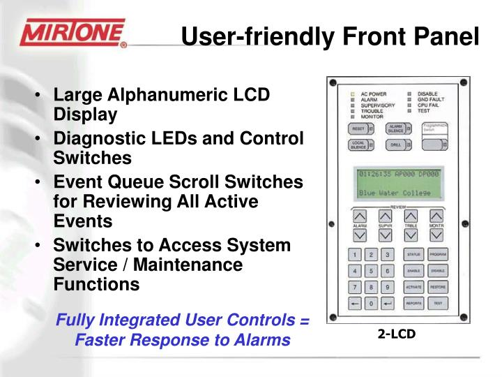 User-friendly Front Panel