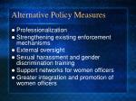 alternative policy measures