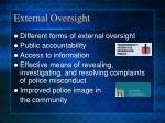 external oversight