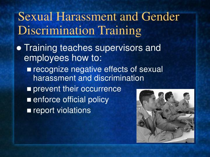 Sexual Harassment and Gender Discrimination Training