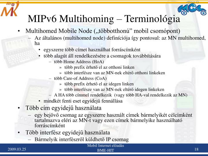 MIPv6 Multihoming – Terminológia