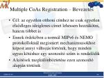 multiple coas registration bevezet s