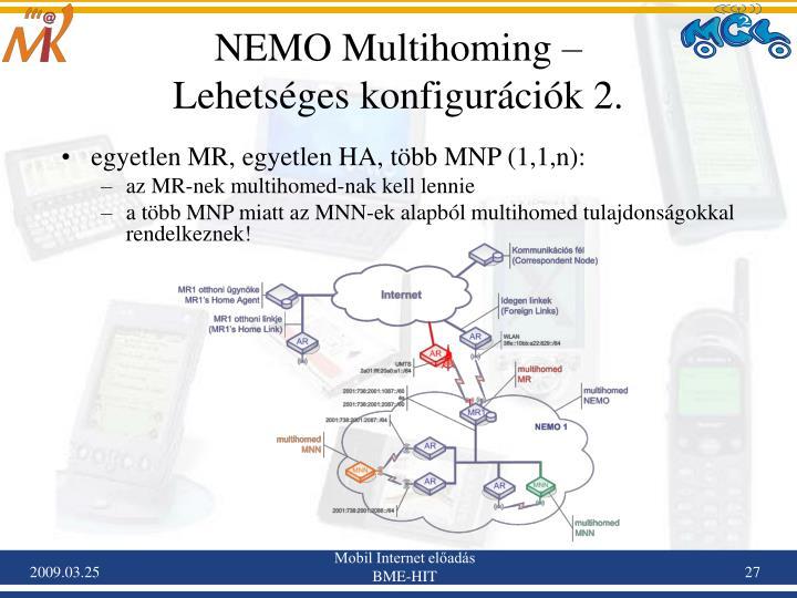 NEMO Multihoming –