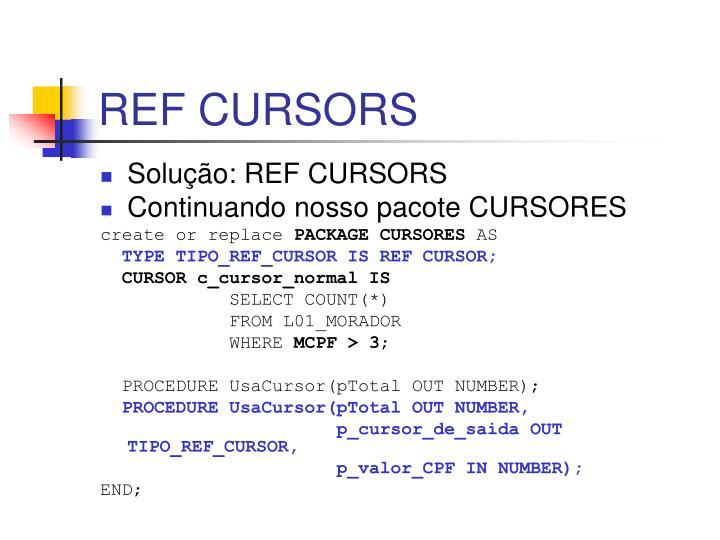 REF CURSORS