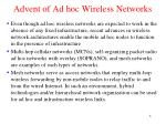 advent of ad hoc wireless networks2