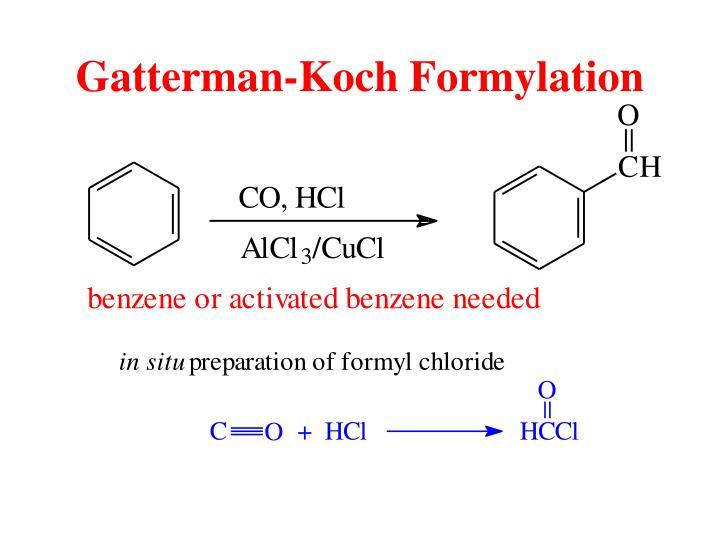 Gatterman-Koch Formylation