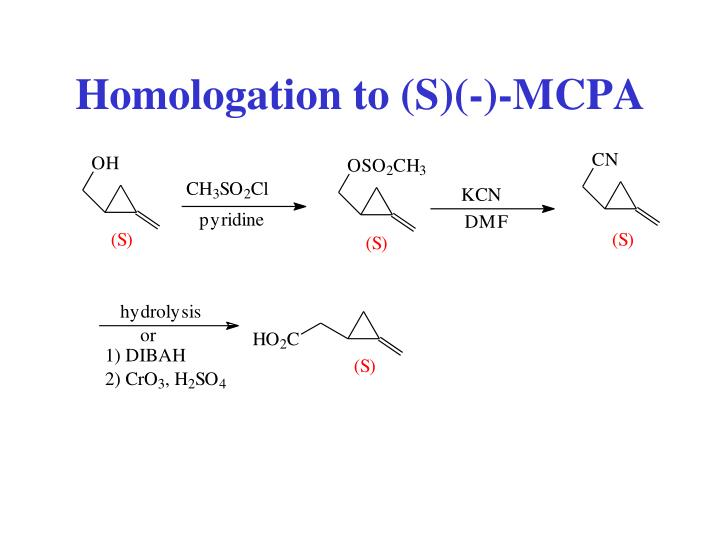 Homologation to (S)(-)-MCPA
