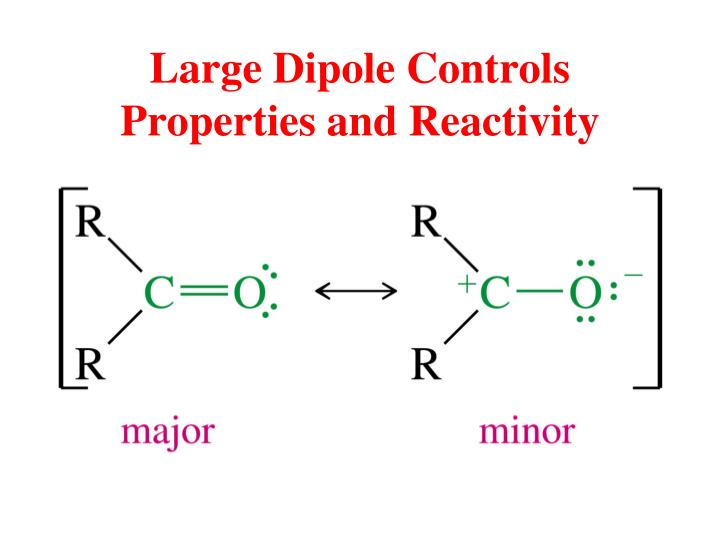 Large Dipole Controls Properties and Reactivity