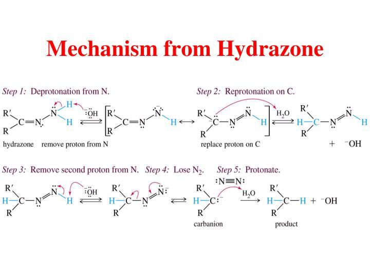 Mechanism from Hydrazone