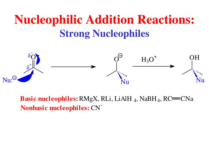 Nucleophilic Addition Reactions: