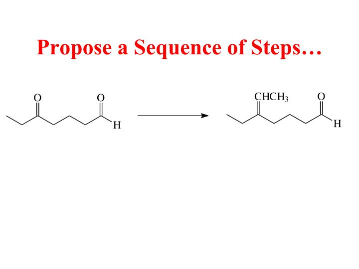 Propose a Sequence of Steps…