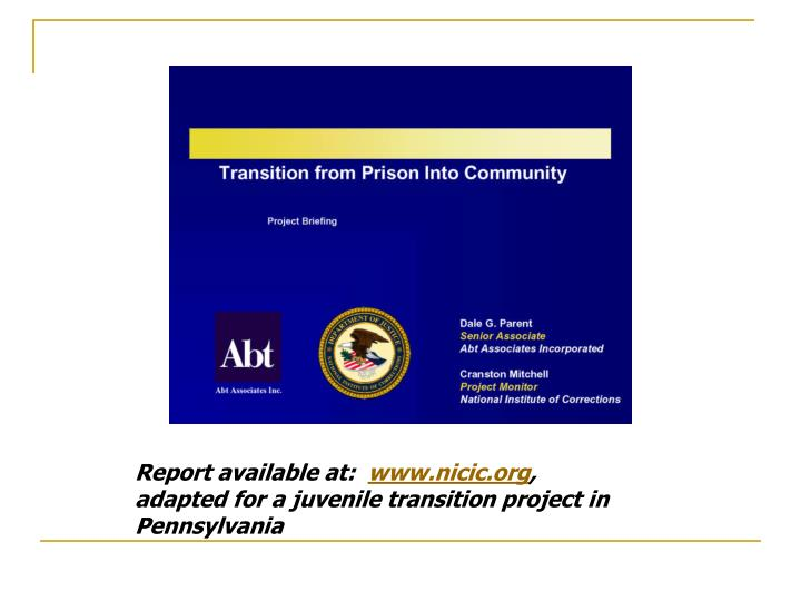 Report available at: