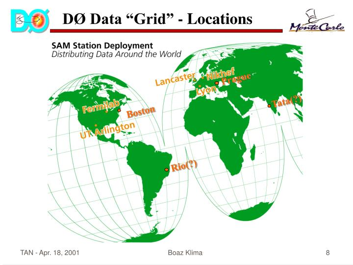 "DØ Data ""Grid"" - Locations"