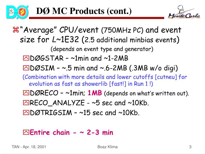 D mc products cont
