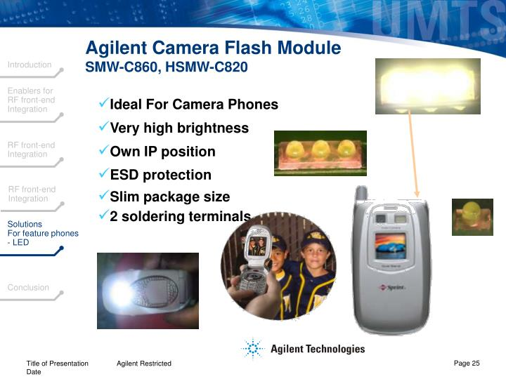 Agilent Camera Flash Module