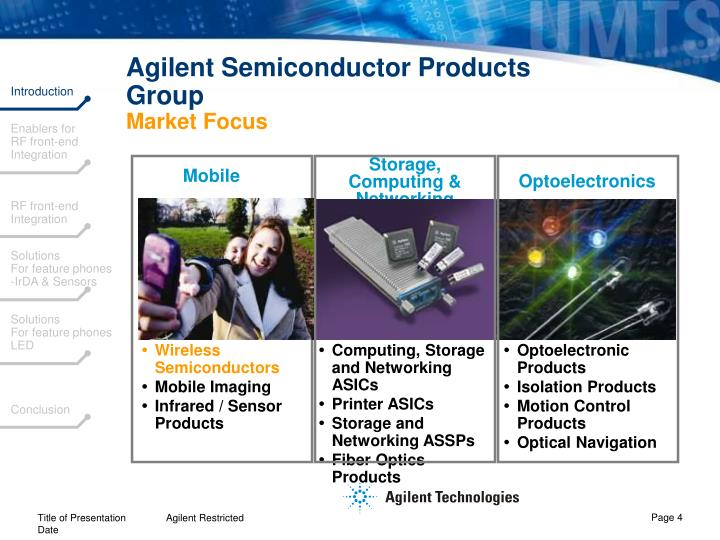 Agilent Semiconductor Products Group