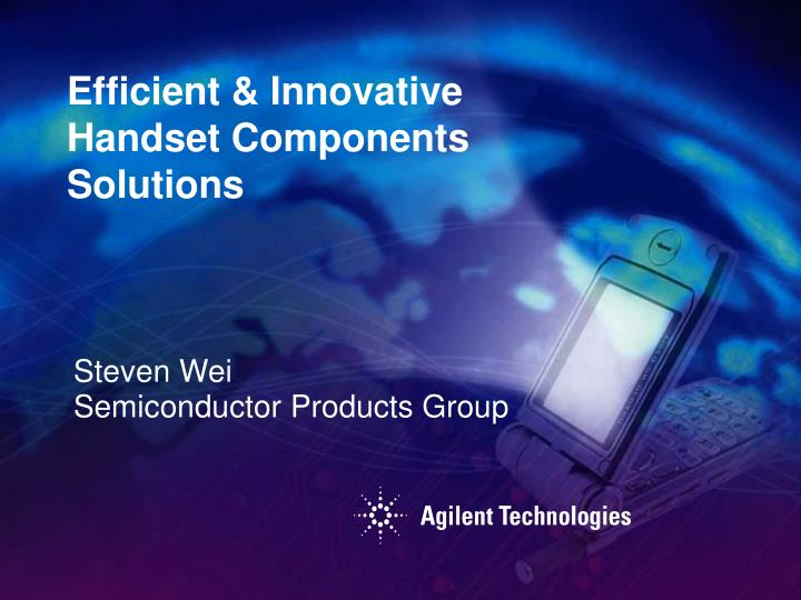 Steven wei semiconductor products group